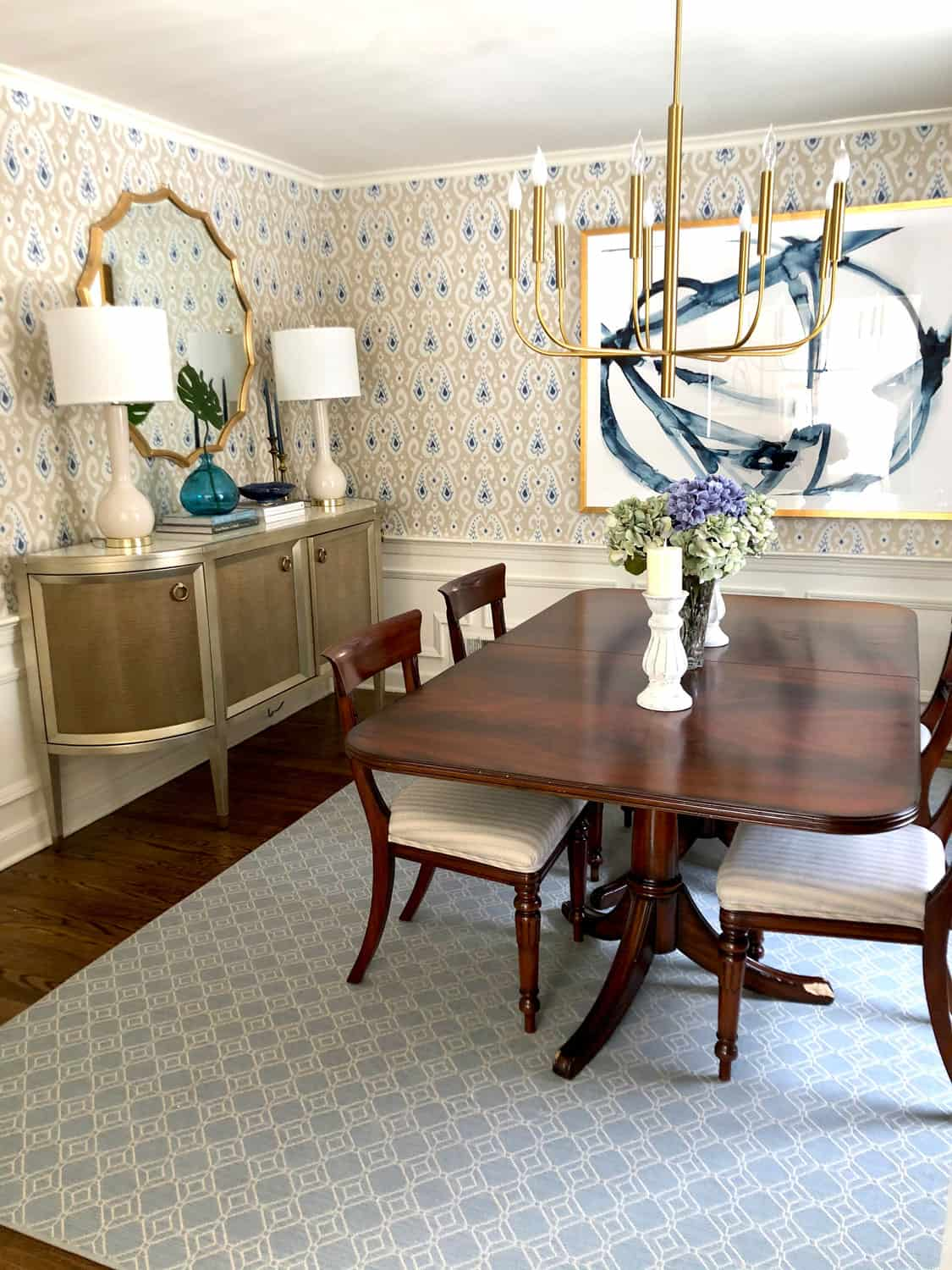 Traditional Dining Room Less Boring, Queen Anne Style Dining Room Setup