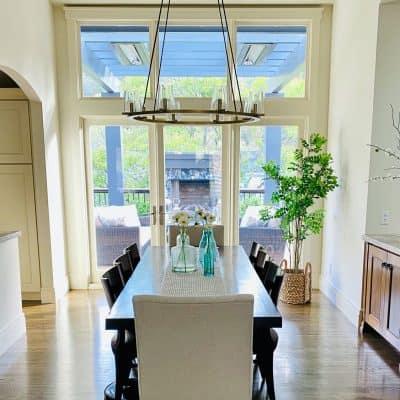 Open Floor Plan dining room refresh