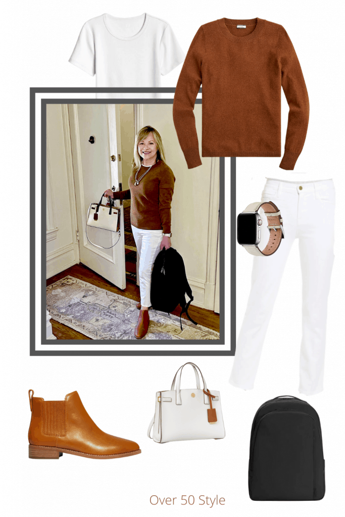 Frame Jeans and J. Crew Cashmere Sweater