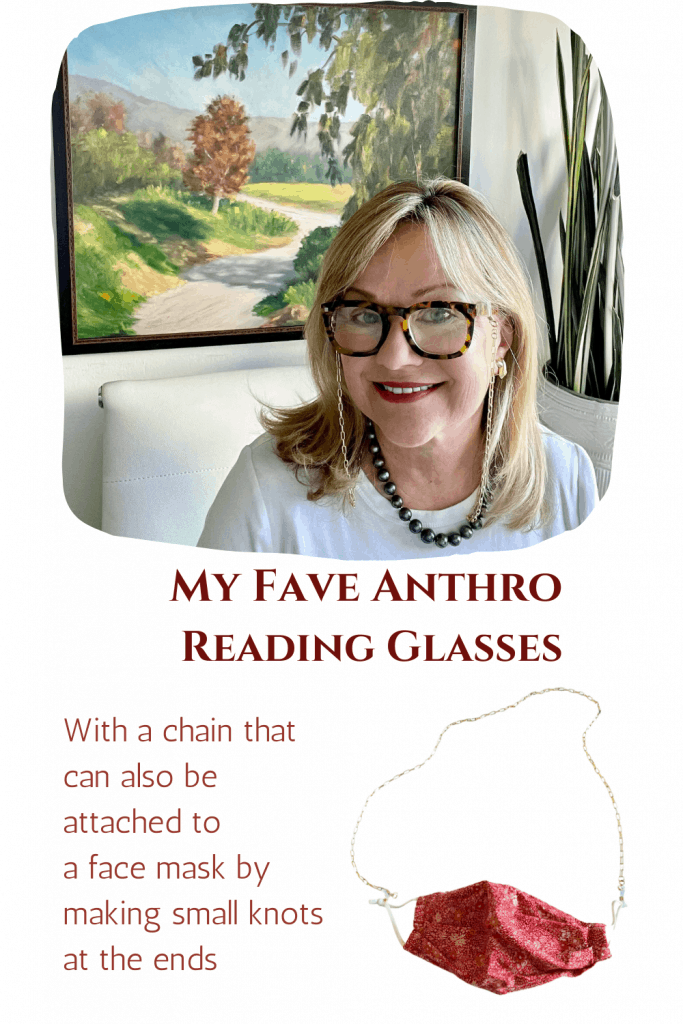 Stylish Reading Glasses and Chain