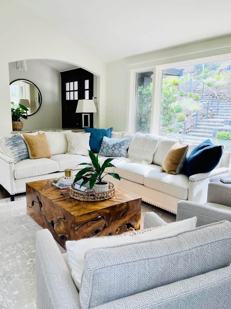 Family Room with Sectional and Swivel Chairs
