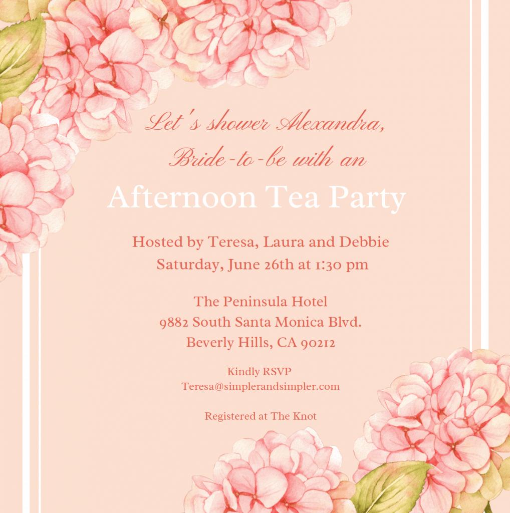 Shower Bridal Invitation
