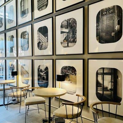 Black and White Gallery Wall in Barcelona
