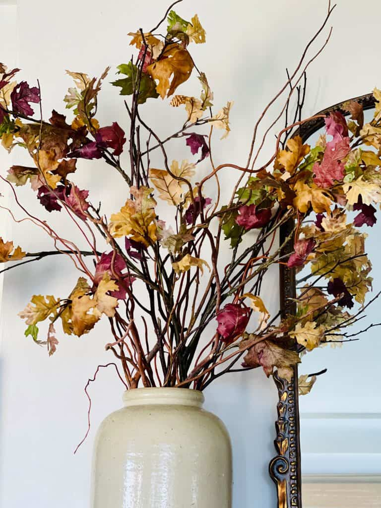 Fall Decor With Faux Branches