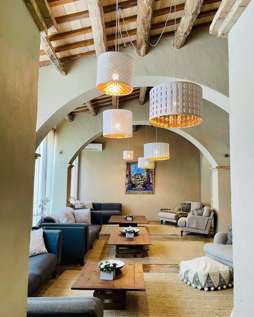 villa living room in Sitges, Spain