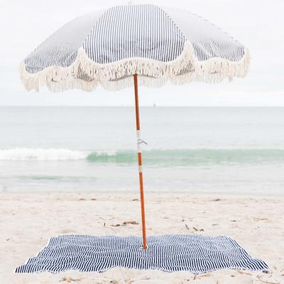 Stylish Umbrella and beach towel