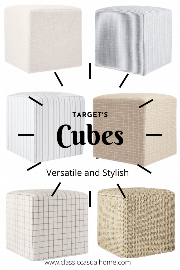 stylish upholstered cubes