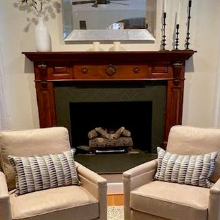 Fireplace Makeover With Paint