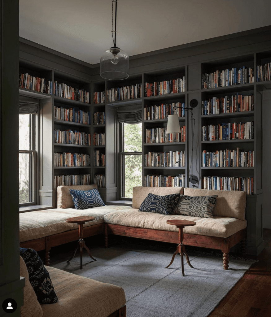 Walls and Bookcases the same color